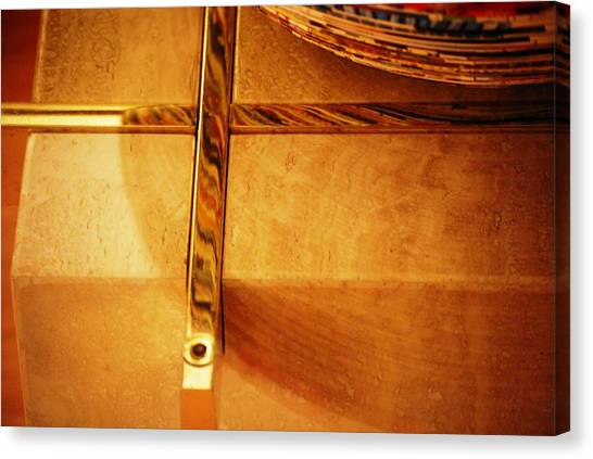 Recessed And Reflected Canvas Print by Peter  McIntosh