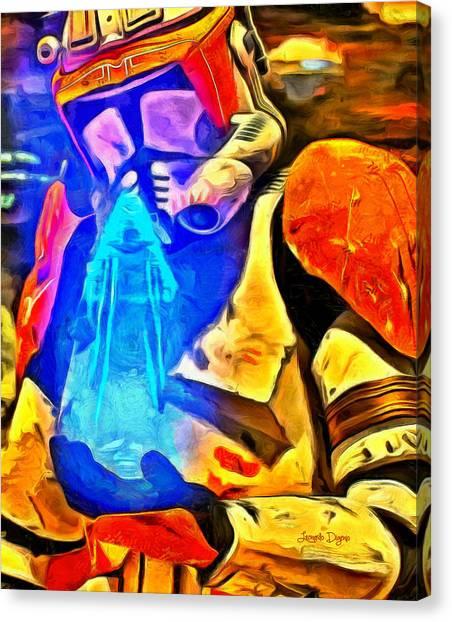 Leia Organa Canvas Print - Receving The Order - Da by Leonardo Digenio