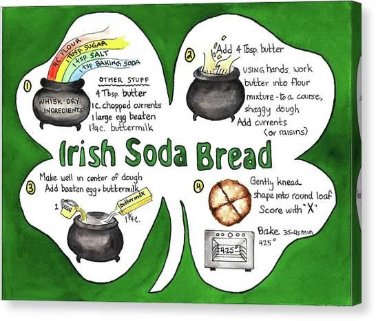 Recipe - Irish Soda Bread Canvas Print