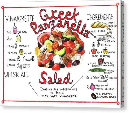 Recipe- Panzanella Salad Canvas Print