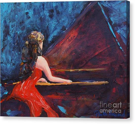 Recital In Red Canvas Print