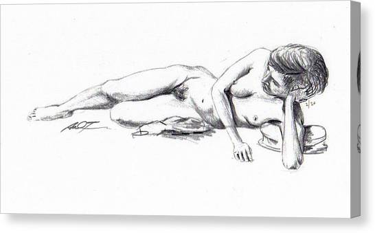 Reclining Drawing Model Canvas Print