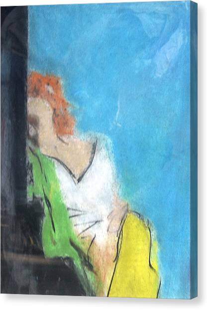 Reclining Girl Canvas Print by Thomas Armstrong