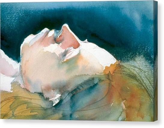 Reclining Head Study Canvas Print
