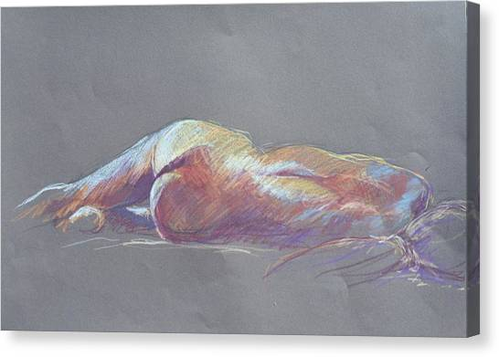 Reclining Study 5 Canvas Print