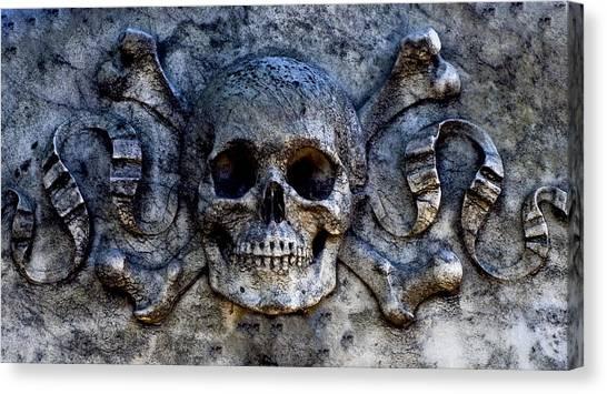 Recoleta Skull Canvas Print