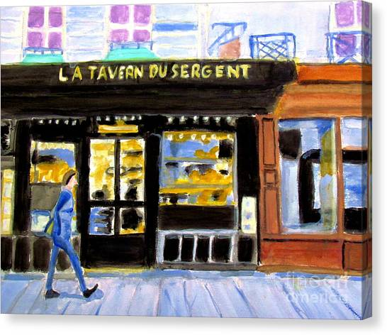 Reconnoiter Parisian Stores In Your Dreams Canvas Print by Stanley Morganstein