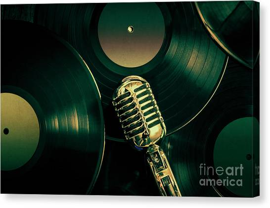 Microphones Canvas Print - Recording Studio Art by Jorgo Photography - Wall Art Gallery