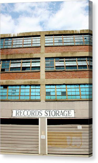Tn Canvas Print - Records Storage- Nashville Photography By Linda Woods by Linda Woods