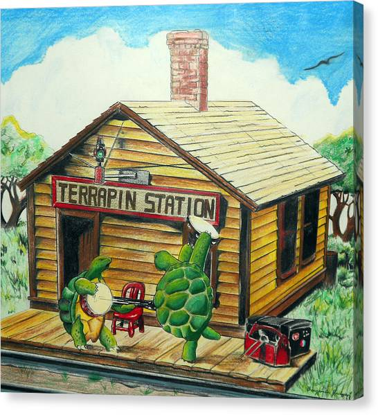 Grateful Dead Canvas Print - Recreation Of Terrapin Station Album Cover By The Grateful Dead by Ben Jackson