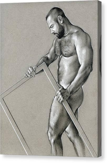 Male Nude Art Canvas Print - Rectangle 2 by Chris Lopez