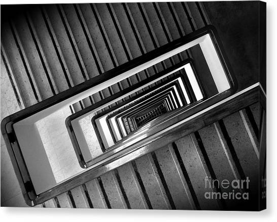 Rectangular Spiral Staircase Canvas Print