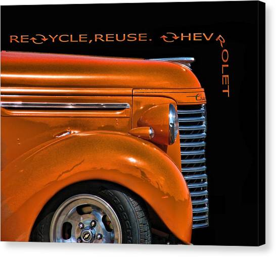 Recycle Canvas Print by Kevin  Sherf