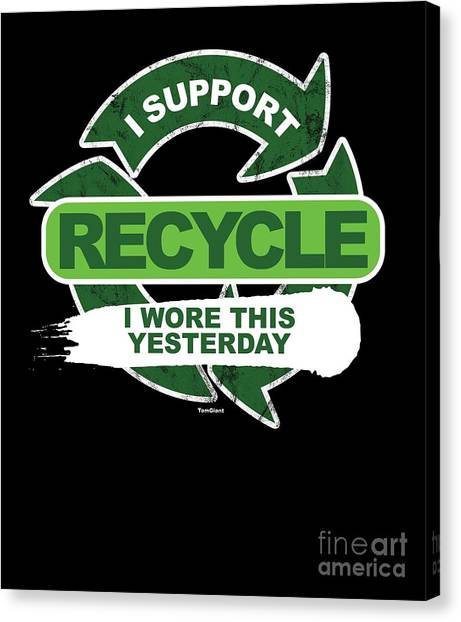 Canvas Print - Recylce Support Recycling by Thomas Larch