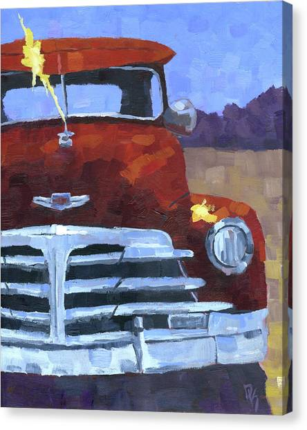Red 1948 Chevy  Canvas Print