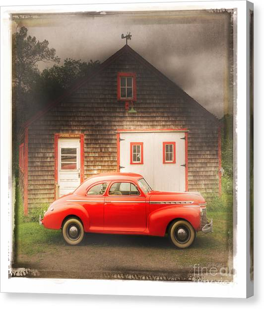 Red 41 Coupe Canvas Print