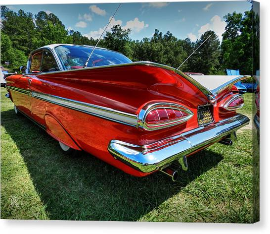 Red '59 Impala 001 Canvas Print