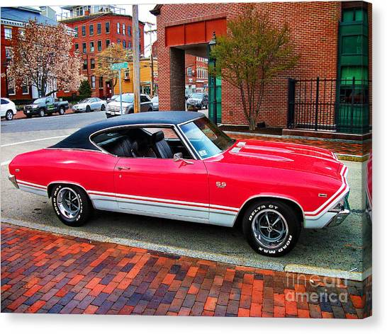 Red 68-69 Chevelle Ss 396 Canvas Print