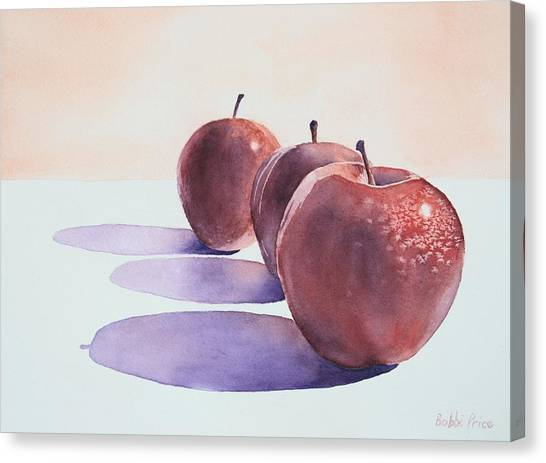 Red Apples Canvas Print by Bobbi Price