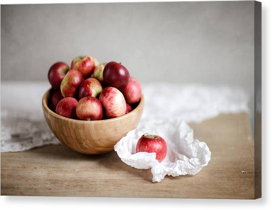 Smallmouth Bass Canvas Print - Red Apples Still Life by Nailia Schwarz