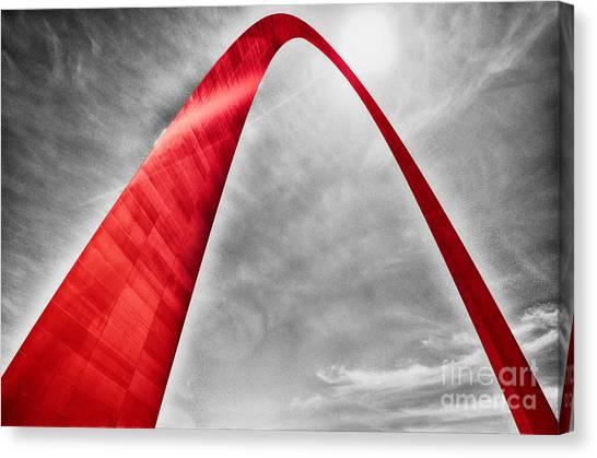 Saint Louis University Canvas Print - Red Arch  by Rachel Barrett