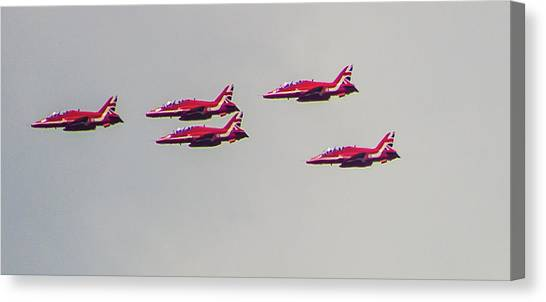 Gnats Canvas Print - Red Arrows by Martin Newman