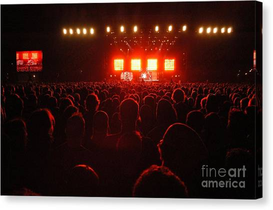 Red Audience Canvas Print by Andy Smy
