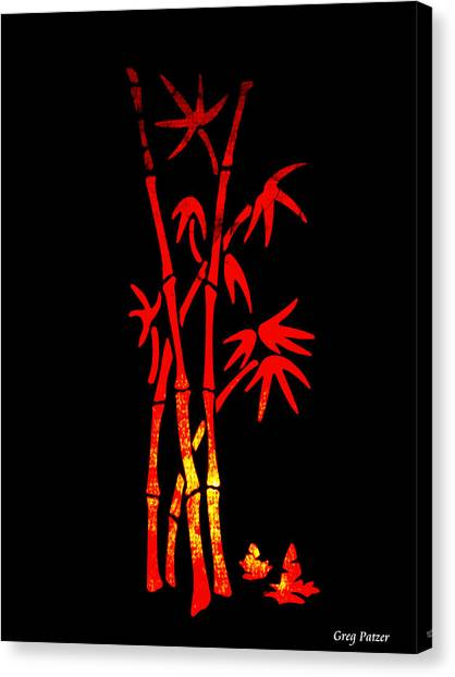 Red Bamboo Canvas Print by Greg Patzer
