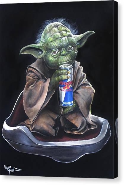 Yoda Canvas Print - Red Bantha by Tom Carlton