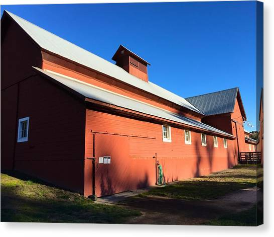 Red Barn, Blue Sky Canvas Print