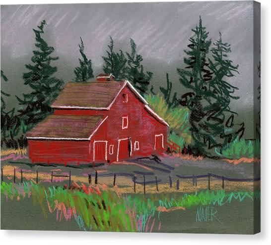 Red Barn In La Honda Canvas Print By Donald Maier