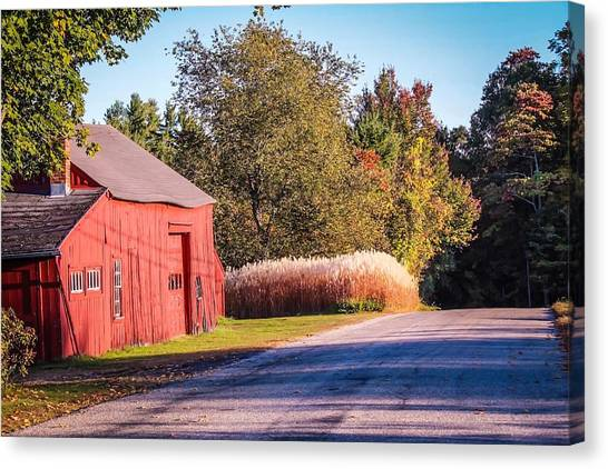 Red Barn In The Country Canvas Print