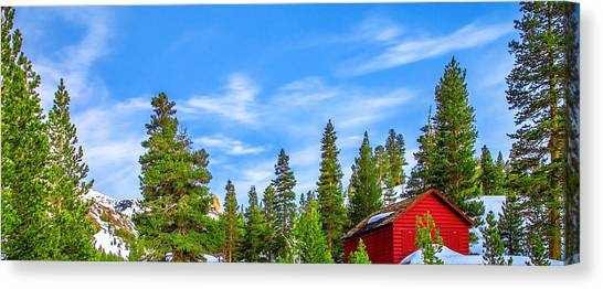 Yosemite Canvas Print - Red Barn On A Hill by Az Jackson