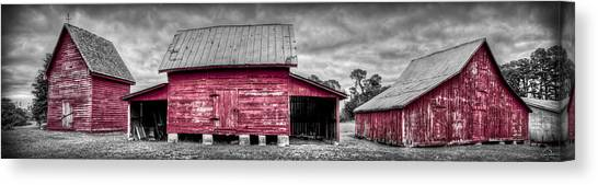 Canvas Print featuring the photograph Red Barns At Windsor Castle by Williams-Cairns Photography LLC