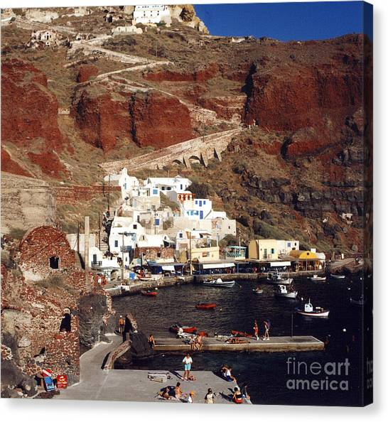 Red Beach Canvas Print by Andrea Simon