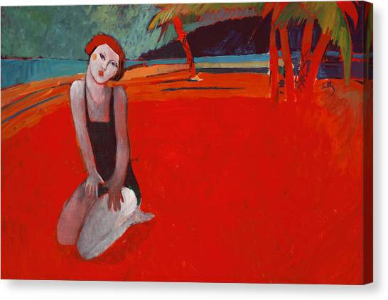 Red Beach Two Canvas Print