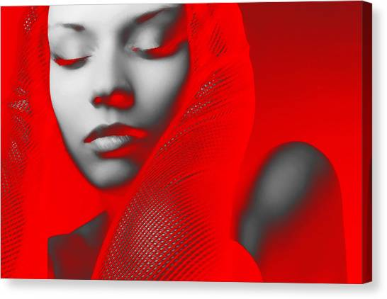 Party Canvas Print - Red Beauty  by Naxart Studio