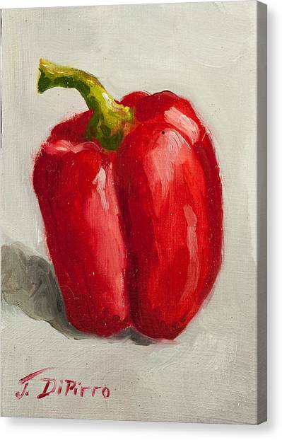 Red Bell Pepper Canvas Print by Joni Dipirro