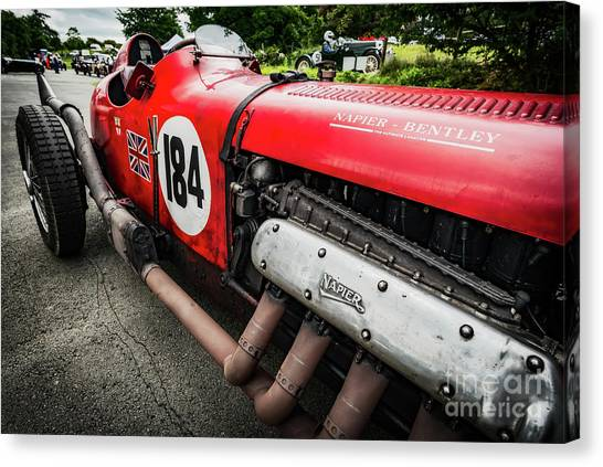 Cockpits Canvas Print - Red Bentley by Adrian Evans