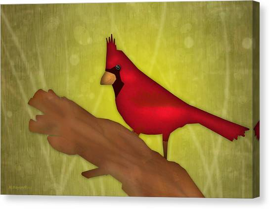 Canvas Print - Red Bird by Melisa Meyers