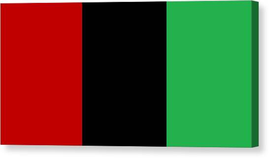 Red Black And Green Canvas Print