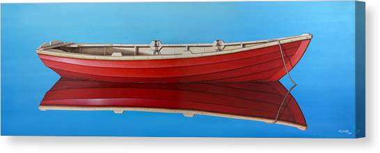 Boat Canvas Print - Red Boat by Horacio Cardozo