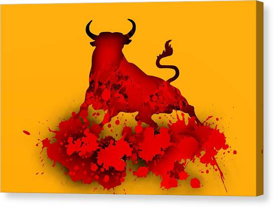 Red Bull.1 Canvas Print