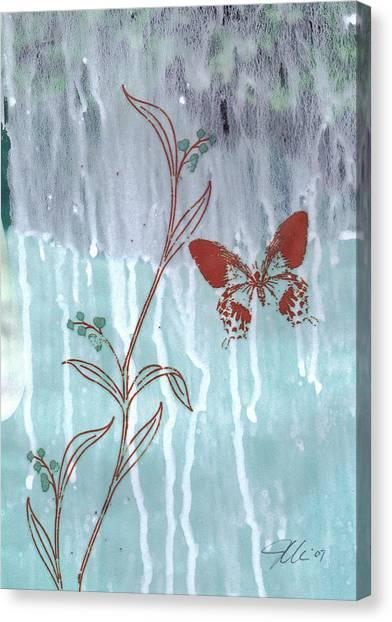 Red Butterfly Canvas Print by Jennifer Bonset