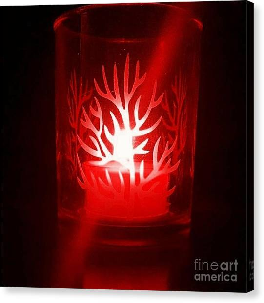Red Candle Light Canvas Print