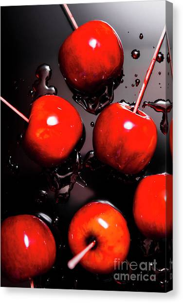 Bakery Canvas Print - Red Candy Apples Or Apple Taffy by Jorgo Photography - Wall Art Gallery
