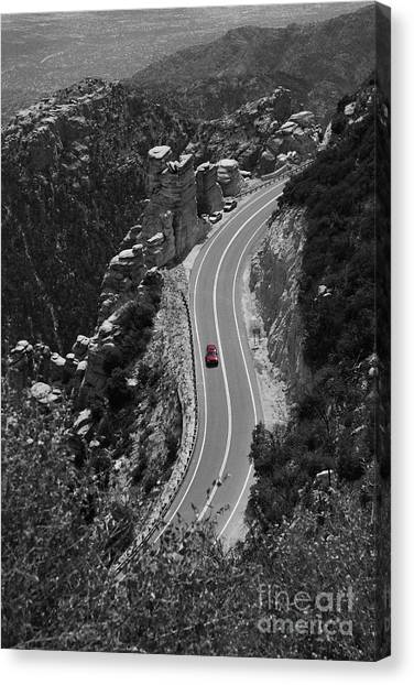 Red Car Canvas Print by Jim Wright