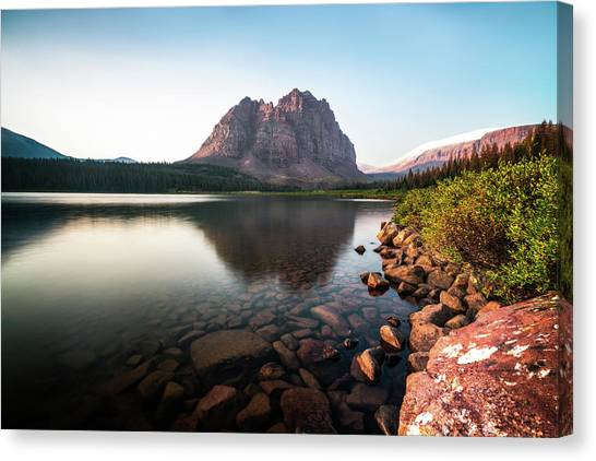 Uinta Canvas Print - Red Castle Mountain Utah by James Udall