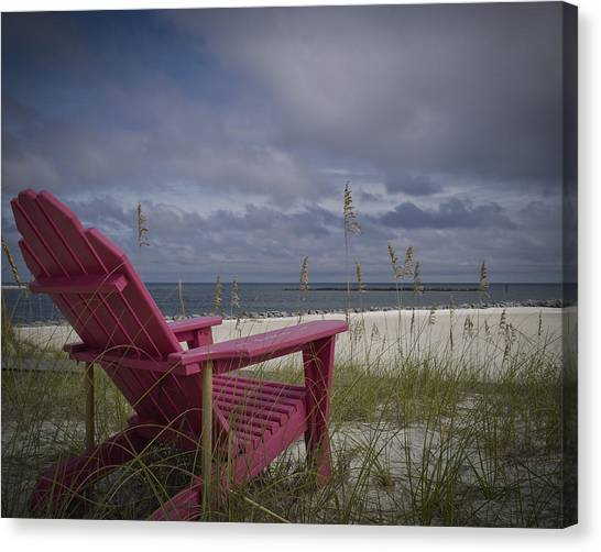 Red Chair View Canvas Print