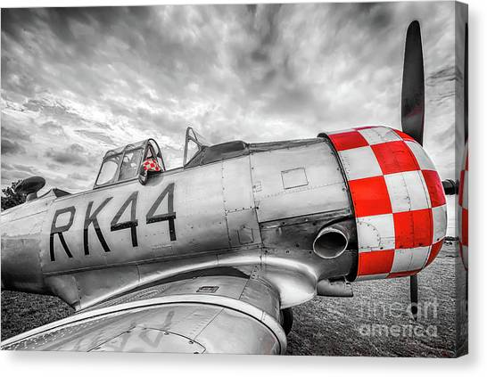 Red Checkers Canvas Print